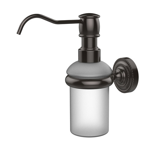 commercial wall mounted automatic soap dispenser allied brass oil rubbed bronze detail bathroom