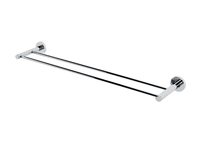 A8325 30 Pc Contemporary I Double Towel Bar Polished Chrome