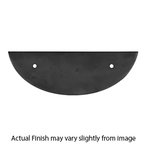 CL96   Ashley Norton   Semi Circle Cabinet Pull Backplate   Fits 96mm Pull    Matte Black