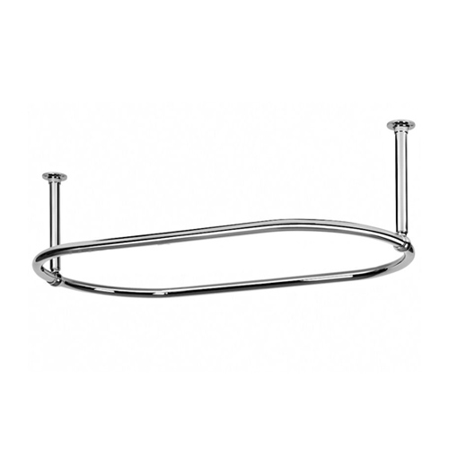 Traditional Oval Shower Rod   Ceiling End Support
