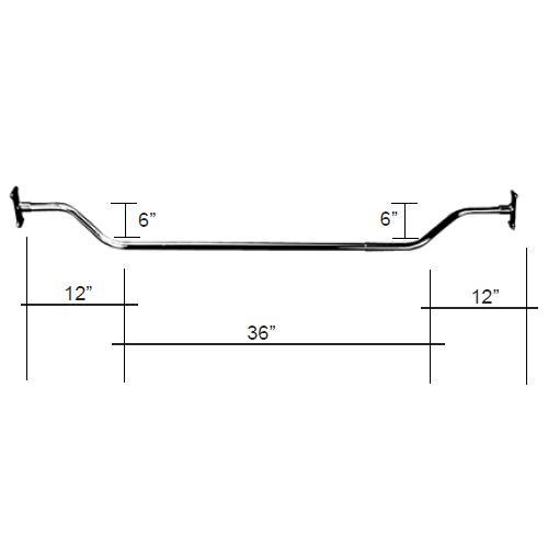 Offset Shower Enlarger Rod 60