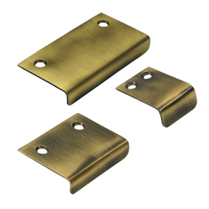 angle tab pulls antique brass