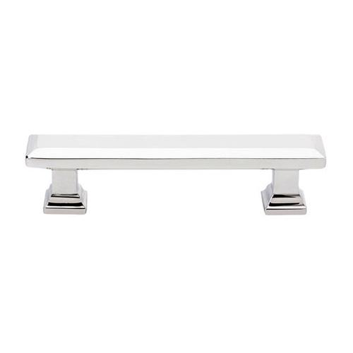 86300 geometric brass 3 5 rectangular cabinet pull polished