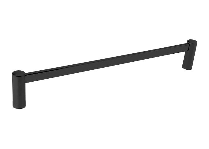 28023 Modern Br 30 Towel Bar Rosette Flat Black