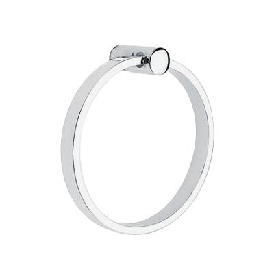 2801 Modern Brass Towel Ring Square Rosette Polished Chrome