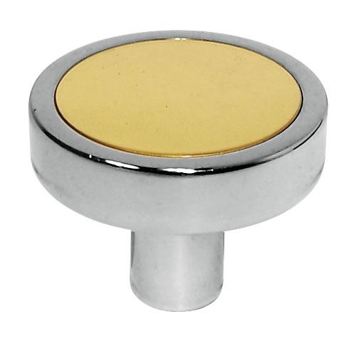 Jado   Cabinet Knob   Polished Chrome/Polished Brass