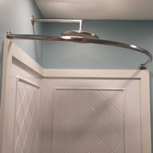 Rounded Shower Curtain Bar