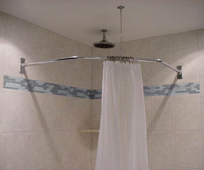 18 5 X 26 Neo Angle Shower Rod Standard