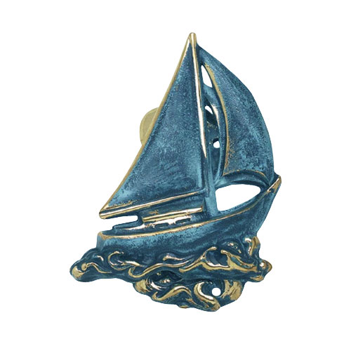 Spi Door Knocker Sailboat Br Verdigris Detail Jpg