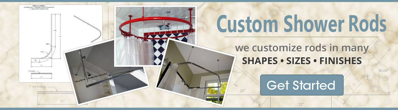 Shower Rod decor is our specialization. - ShowerRods-etc.com